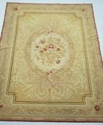 Vintage Hand Made French Floral Design Multicolored Wool Aubusson 349x258cms
