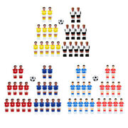 22pcs Foosball Men Guys Football Players With Ball Game Indoor Parts Accs