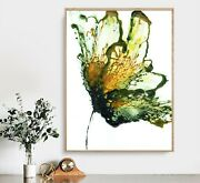 Vintage Flower Art Poster, Flower Home Decor, Abstract Poster Printing
