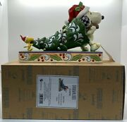 Snoopy And Woodstock Time To Trim The Tree Figure Jim Shore Peanuts Christmas