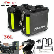 36l Motorcycle Aluminum Side Cases Luggage Box With Bracket For Harley Honda Bmw