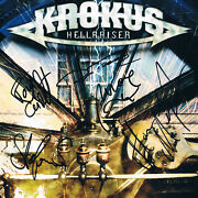 Krokus Genuine Autograph 8x8 Photo Signed In Person Swiss Heavy Metal Band