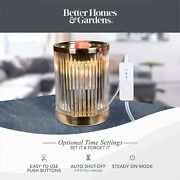 Better Homes And Gardens Full Size Wax Warmer Ribbed Glass With Timer Fast Ship