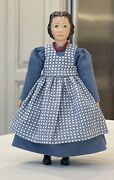 Boneka Cotton Blue Dress And Checked Pinafore 16cm For Hitty Dolls