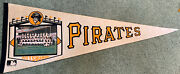 """Large 30"""" Pittsburgh Pirates Vintage 1970 Full Size Team Photo Pennant Clemente"""