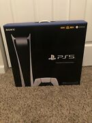 Brand New Sony Playstation 5 Ps5 Digital Edition Console - In Hand Fast Ship