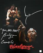 Jean Claude Van Damme Bolo Yeung Autographed You Are Next 16x20 Photo Asi Proof