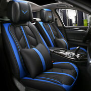 Auto Luxury Car Seat Cover 5 Seats Wear-resistant Front+rear Sets Pillow Cushion