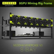 8 Gpu Stackable Open Air Mining Rig Frame Case Computer Ethereum Eth Us Seller