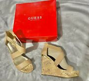 Tersa Cork Wedges Guess Size 7 New