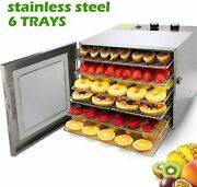 600w Electric Food Dehydrator Machine Stainless Steel Fruit Dryer Beef Meat -new