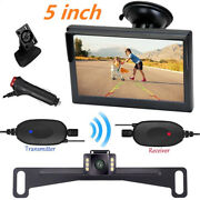 Wireless Backup Camera Rear View 5 Car Monitor System Cigarette Lighter Switch