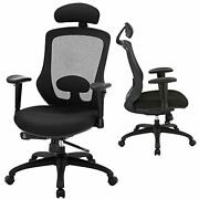 High Back Office Chair Ergonomic Mesh Desk Chairs With Adjustable Headrest
