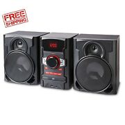 100w Home Audio System Shelf Stereo Bluetooth Cd Usb Boombox With Remote New