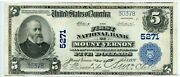 Fr. 607 1902 Pb 5 Ch 5271 National Bank Note Mount Vernon, New York Xf