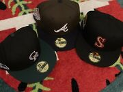 Hat Club Exclusive 3 Pack Panic Brave Rockies Seattle Ds Size 7 5/8 New Era