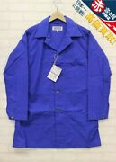 Engineered Garments Workaday Cotton Ripstop Shop Coat Blue Color New With Tags