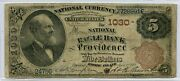 Fr. 467 1882 Bb 5 Ch 1030 National Bank Note Providence Rhode Island Fine