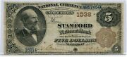 Fr. 467 1882 Bb 5 Ch 1038 National Bank Note Stamford Connecticut Fine