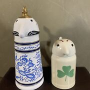Vintage 1972 Utica Club Webco Schultz And Dooley Beer Steins Made In Brazil