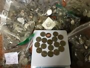 Bulk Lot Of 920.00 Canadian Quarters 25 Cent Nickel Coins 40 Pounds No Silver