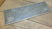 Antique Heavy Brass Shotwell And Eden Registered Architects Sign Plaque 22x7