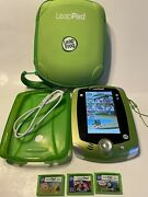 Leapfrog Leappad 2 Learning System Gel And Carrying Case 3 Games Cord Lot