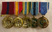 Medal Usmc Military Full Size 5 Medals To Honor Anodized Mounted Group New