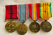 Estate Medal Usmc Military Full 4 Medals To Honor Bronze Mounted Group Vietnam