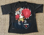 Vintage Taz All Over Print Boxing Rap Tee Changes Tag Loony Tunes Vtg Xl