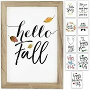 Farmhouse Wall Decor Signs With 10 Interchangeable Sayings For Fall Home Decor