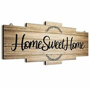 Home Sweet Home Sign, Rustic Wood Home Wall Decor, Large Farmhouse Wood Color