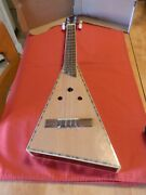 Custom Made 4 String Tenor Guitar Funky Shaped Nice Inlay Sounds @ Plays Great