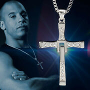 Fast And Furious Dominic Toretto Cross Pendant 925 Sterling Silver Necklace Gift