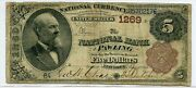 Fr. 467 1882 Bb 5 Ch 1269 National Bank Note Pawling New York Vg/f