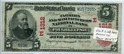 Fr. 587 1902 Rs 5 Ch 1312 National Bank Note Poughkeepsie New York Fine