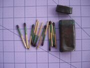 World War Ii Brass Trench Art Match Safe And12 Wooden Water Resistant Matches Nice