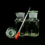 Transparent Wide Mouth Ground Glass Stopper Glass With Drop Reagent Bottle 250ml