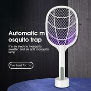 Bug Zapper Racket Fly Killer Electric Bat Wasp Mosquito Insect Pest Swatter Usb