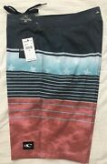 """Nwt O'neill Mens Board Surf Shorts Swimsuit 32 Msrp 54 20"""" Length Heist"""
