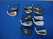 Huge Lot Of 12 Golf Iron Head Only Ping G25 Cobra Amp Iden Black Cb3 Taylor Made