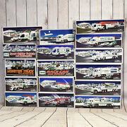 Hess Trucks 1994-2009 Lot Of 16 + Boxes - Free Shipping