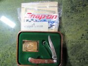 Snap On Racing 1988/89 Federal Duck Stamp With Pocket Knife By Schrade Cutlery