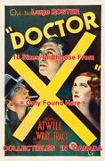 Doctor X 1932 Lionel Atwill Fay Wray Lee Tracy = Movie Poster 10 Sizes 17-4.5ft
