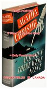 And Then There Were None 1940 1st Ed. Agatha = Wall Poster Book 6 Sizes 17-7 Ft