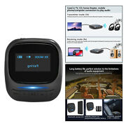Portable Bluetooth Transmitter Receiver Pair 2 Devices At Once For Tv Car 33ft