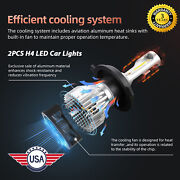 H4 Led Car Chip Suv White Light Ip68 Waterproof All In One Style Durable 6000k