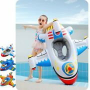 Kids Swimming Float Seat Boat Pool Ring Inflatable Airplane Pool Floats Seat