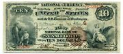 Fr. 479 1882 Bb 10 Ch 4 National Bank Note Stamford, Connecticut Fine