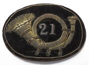 Rare Antique Civil War Officers Infantry Bugle Hardee Hat Badge Patch Insignia